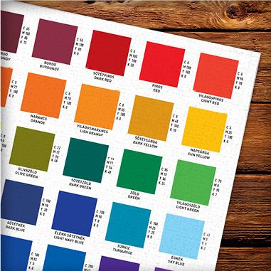 Pompoint méteráru webáruház textil szublimációs színkalauza