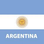 Argentin zászló design egyedi szublimált textil méteráruhoz