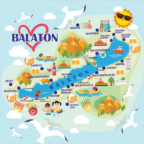 Balaton 4 design egyedi szublimált textil méteráruhoz