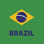 Brazil zászló design egyedi szublimált textil méteráruhoz