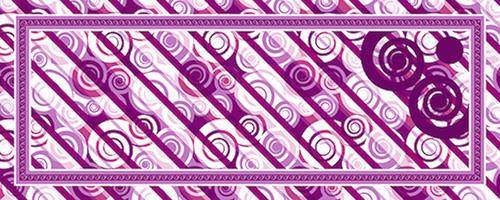 Csigás keskeny lila design egyedi szublimált textil méteráruhoz