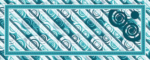 Csigás keskeny zöld design egyedi szublimált textil méteráruhoz