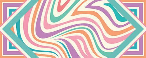 Csíkos design egyedi szublimált textil méteráruhoz