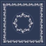 Kalocsai kék fehér design egyedi szublimált textil méteráruhoz