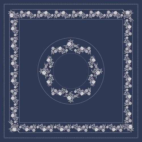 Kalocsai kék fehér