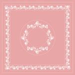 Kalocsai rózsaszín design egyedi szublimált textil méteráruhoz