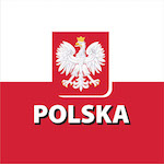 Lengyel zászló design egyedi szublimált textil méteráruhoz