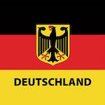Német zászló design egyedi szublimált textil méteráruhoz