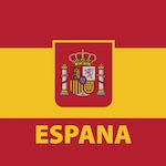 Spanyol zászló design egyedi szublimált textil méteráruhoz