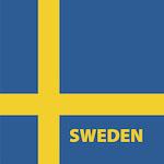 Svéd zászló design egyedi szublimált textil méteráruhoz