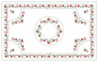 Kalocsai fehér design egyedi szublimált textil méteráruhoz