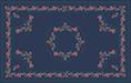 Kalocsai kék színes design egyedi szublimált textil méteráruhoz