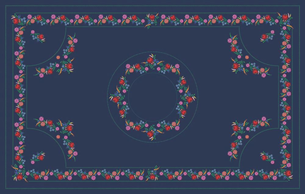 Kalocsai kék színes