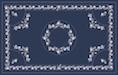 Kalocsai kék design egyedi szublimált textil méteráruhoz