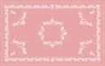 Kalocsai mályva design egyedi szublimált textil méteráruhoz