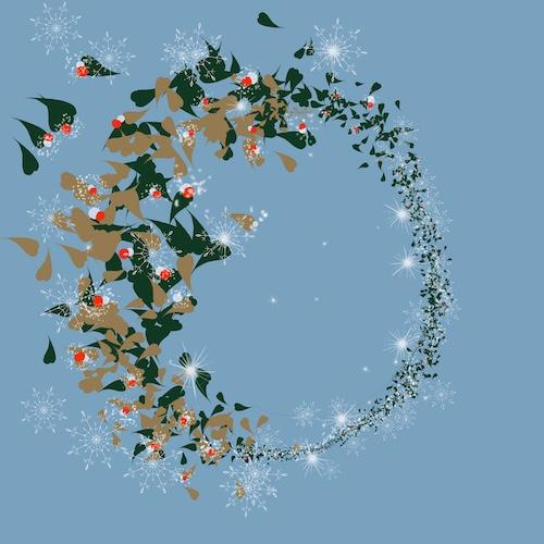 Vézsé Design Karácsonyi koszorú
