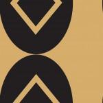 Art Deco arany design egyedi szublimált textil méteráruhoz