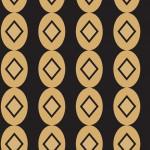 Art Deco fekete design egyedi szublimált textil méteráruhoz