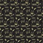 Ballagás fekete design egyedi szublimált textil méteráruhoz
