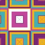 Színes négyzetek okker alapon design egyedi szublimált textil méteráruhoz