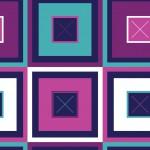 Színes négyzetek sötétkék alapon design egyedi szublimált textil méteráruhoz