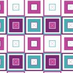 Színes négyzetek fehér alapon design egyedi szublimált textil méteráruhoz