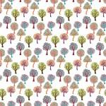 Színes fák design egyedi szublimált textil méteráruhoz