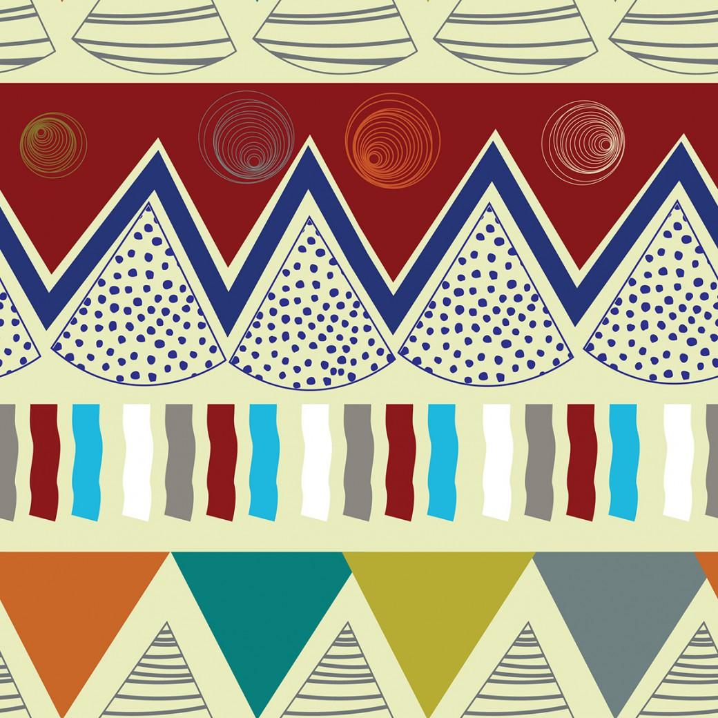 Indián minta bézs alapon design egyedi szublimált textil méteráruhoz