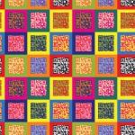 Pompoint popart design egyedi szublimált textil méteráruhoz