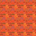 Biciklik narancs alapon design egyedi szublimált textil méteráruhoz