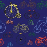 Biciklik sötét alapon design egyedi szublimált textil méteráruhoz