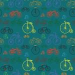 Biciklik türkiz alapon design egyedi szublimált textil méteráruhoz