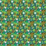 Barna békák design egyedi szublimált textil méteráruhoz