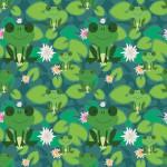 Zöld békák design egyedi szublimált textil méteráruhoz