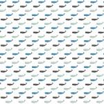 Kék bálnák design egyedi szublimált textil méteráruhoz