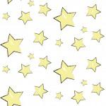Sárga csillagok design egyedi szublimált textil méteráruhoz
