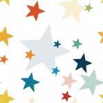 Színes csillagok 2 design egyedi szublimált textil méteráruhoz