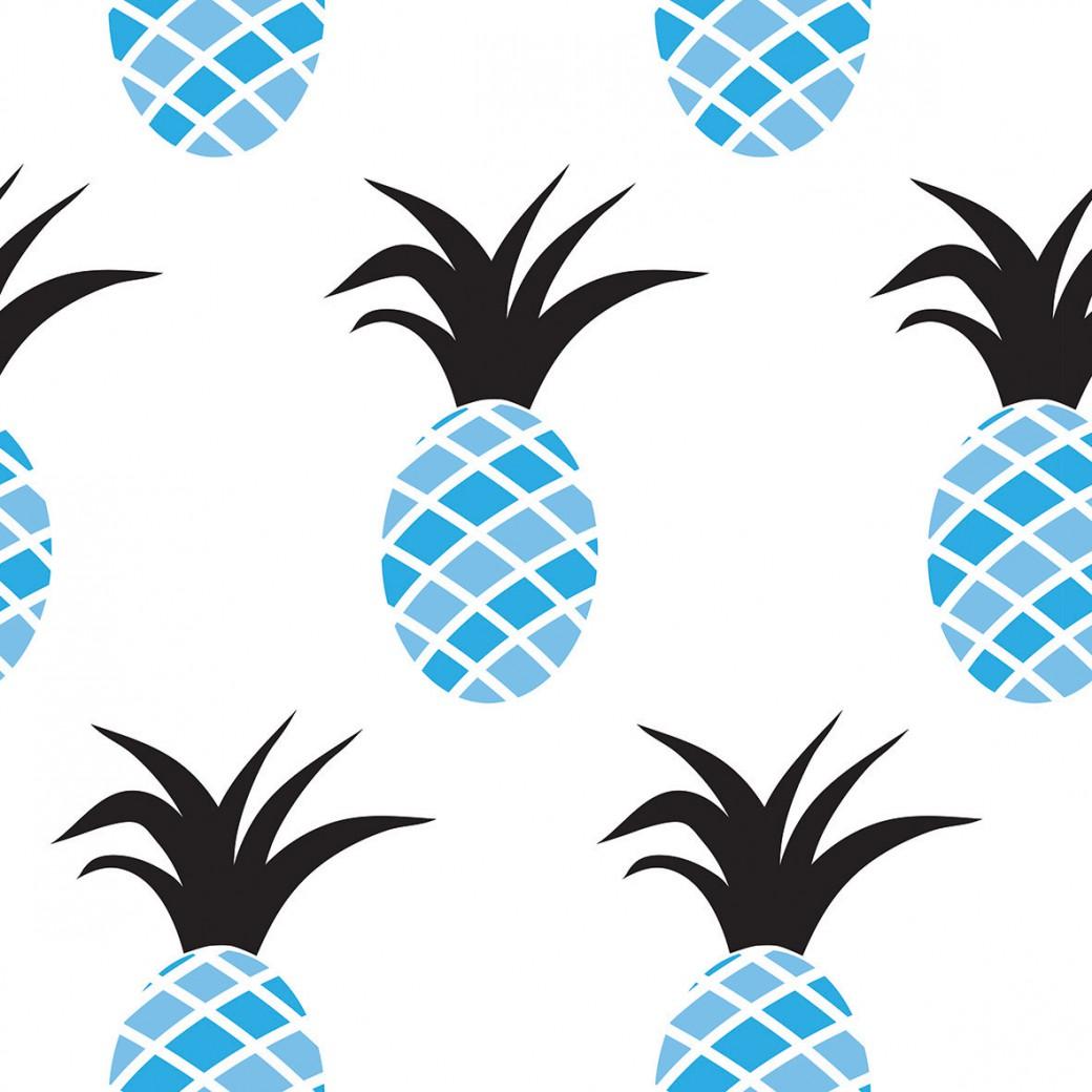 Kék ananászok design egyedi szublimált textil méteráruhoz