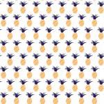 Narancs ananászok design egyedi szublimált textil méteráruhoz
