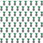 Fekete zöld ananászok design egyedi szublimált textil méteráruhoz