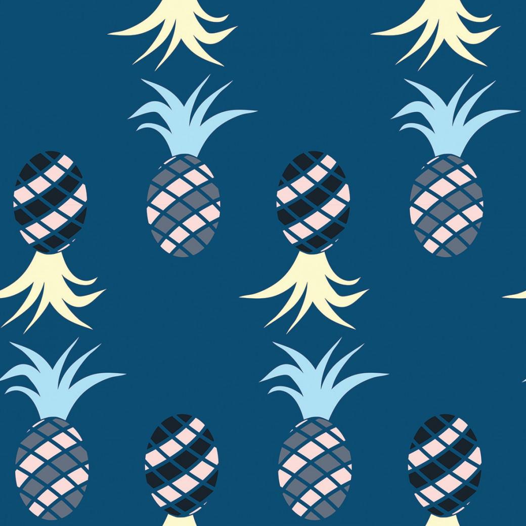 Színes ananászok design egyedi szublimált textil méteráruhoz