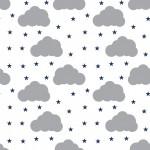 Szürke felhők design egyedi szublimált textil méteráruhoz