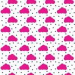 Pink felhők design egyedi szublimált textil méteráruhoz