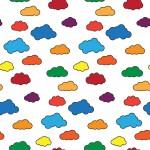 Színes felhők design egyedi szublimált textil méteráruhoz