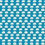 Aranyos felhők design egyedi szublimált textil méteráruhoz