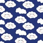 Szempillás felhők design egyedi szublimált textil méteráruhoz