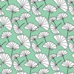 Ginkgo biloba fehér design egyedi szublimált textil méteráruhoz