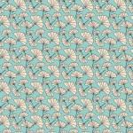 Ginkgo biloba bézs kék design egyedi szublimált textil méteráruhoz