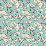 Ginkgo biloba bézs design egyedi szublimált textil méteráruhoz