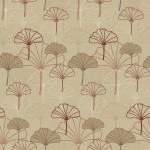Ginkgo biloba bordó design egyedi szublimált textil méteráruhoz